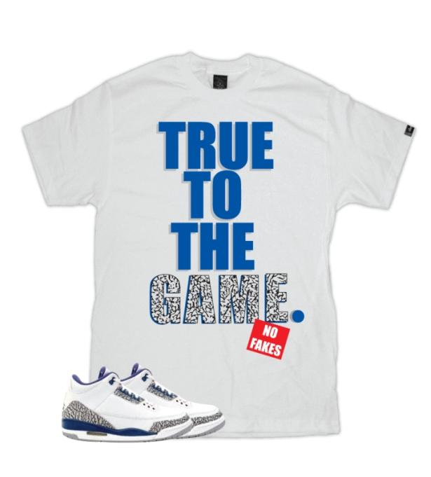 Air Jordan Vrai T-shirts Bleu